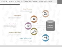 Use Example Of Crm To Be Customer Centricity Ppt Powerpoint Show