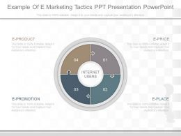 Use Example Of E Marketing Tactics Ppt Presentation Powerpoint