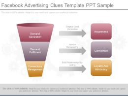 Use Facebook Advertising Clues Template Ppt Sample