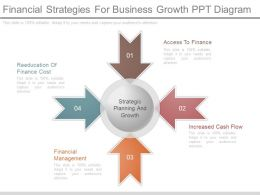 Use Financial Strategies For Business Growth Ppt Diagram