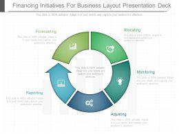 use_financing_initiatives_for_business_layout_presentation_deck_Slide01