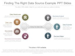 Use Finding The Right Data Source Example Ppt Slides