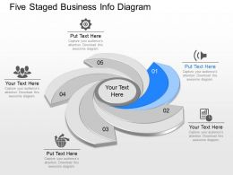 use Five Staged Business Info Diagram Powerpoint Template
