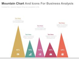 use Five Staged Mountain Chart And Icons For Business Analysis Flat Powerpoint Design