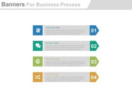use Four Arrow Banners For Business Process Flat Powerpoint Design