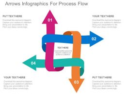 use Four Arrows Infographics For Process Flow Flat Powerpoint Design