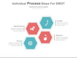 use_four_individual_process_steps_for_swot_flat_powerpoint_design_Slide01