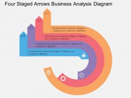 use Four Staged Arrows Business Analysis Diagram Flat Powerpoint Design