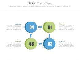 use Four Staged Basic Matrix Chart Flat Powerpoint Design