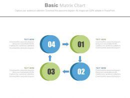use Four Staged Basic Matrix Chart Flat Powerpoint Design