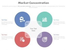 use Four Staged Market Concentration And Analysis Flat Powerpoint Design