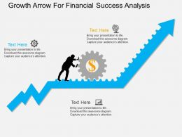 use Growth Arrow For Financial Success Analysis Flat Powerpoint Design
