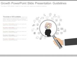 Use Growth Powerpoint Slide Presentation Guidelines