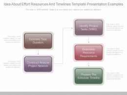 Use Idea About Effort Resources And Timelines Template Presentation Examples
