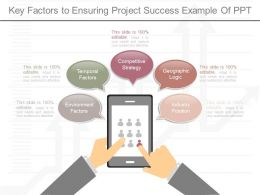 Use Key Factors To Ensuring Project Success Example Of Ppt