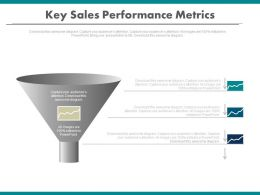 use Key Sales Performance Funnel Metrics Powerpoint Slides