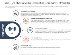 Use Latest Trends Boost Profitability Swot Analysis Cosmetics Company Strengths Ppt Icon