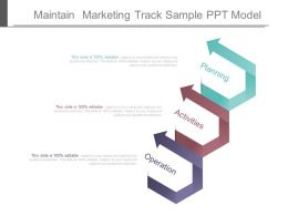 Use Maintain Marketing Track Sample Ppt Model