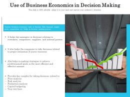 Use Of Business Economics In Decision Making
