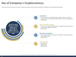 Use Of Companys Cryptocurrency Bonds Ppt Powerpoint Presentation Styles Templates