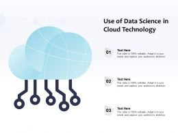 Use Of Data Science In Cloud Technology