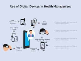 Use Of Digital Devices In Health Management
