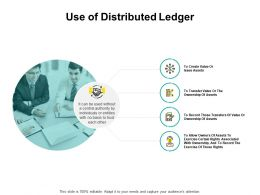 Use Of Distributed Ledger Checklist Ppt Powerpoint Presentation Pictures Graphics