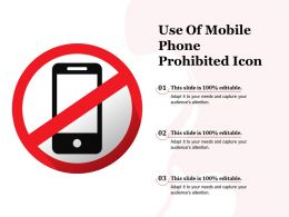 Use Of Mobile Phone Prohibited Icon