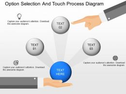 use Option Selection And Touch Process Diagram Powerpoint Template