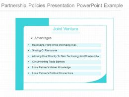 Use Partnership Policies Presentation Powerpoint Example