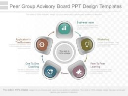Use Peer Group Advisory Board Ppt Design Templates