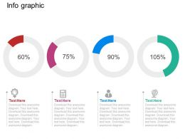 use Pie Charts With Percentage And Icons Flat Powerpoint Design