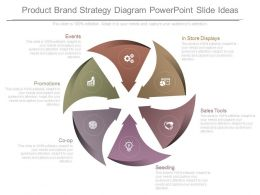 Use Product Brand Strategy Diagram Powerpoint Slide Ideas