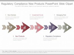 Use Regulatory Compliance New Products Powerpoint Slide Clipart
