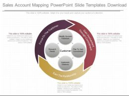 Use Sales Account Mapping Powerpoint Slide Templates Download