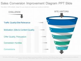 Use Sales Conversion Improvement Diagram Ppt Slide