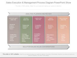 Use Sales Execution And Management Process Diagram Powerpoint Show