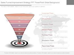 Use Sales Funnel Improvement Strategy Ppt Powerpoint Slide Background