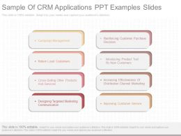 Use Sample Of Crm Applications Ppt Examples Slides