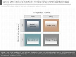 Use Sample Of Fundamental To Effective Portfolio Management Presentation Ideas