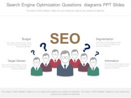 Use Search Engine Optimization Questions Diagrams Ppt Slides