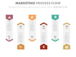 use Six Tags For Marketing Process Flow Flat Powerpoint Design
