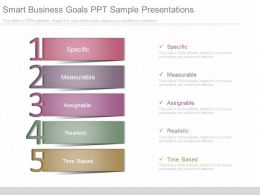 Use Smart Business Goals Ppt Sample Presentations