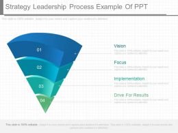Use Strategy Leadership Process Example Of Ppt