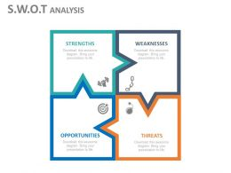 use Swot Analysis Chart For People Flat Powerpoint Design