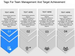 use Tags For Team Management And Target Achievement Powerpoint Template