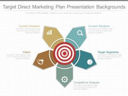Use Target Direct Marketing Plan Presentation Backgrounds