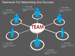 use Teamwork For Networking And Success Flat Powerpoint Design