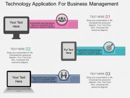 use Technology Application For Business Management Flat Powerpoint Design