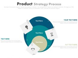 use Three Staged Product Strategy Process Flow Flat Powerpoint Design